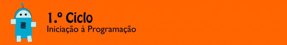 Banner Iniciação à Programação no 1ºCEB